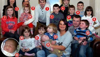 خانواده پرجعیت,پرجمعیت ترین خانواده جهان