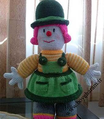 بافت عروسک,عروسک قلاب بافی,عروسک بافتنی