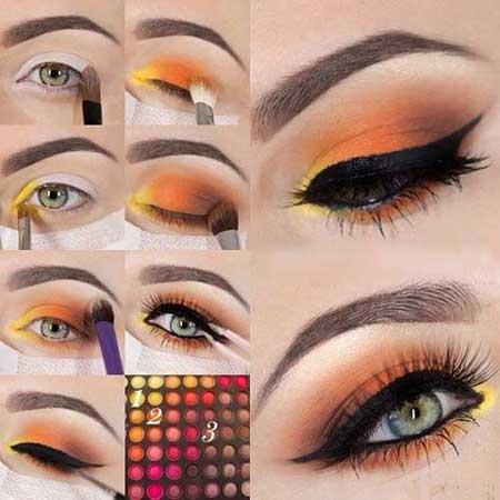 آموزش آرایش چشم,آموزش آرایش چشم زرد,آموزش آرایش چشم نارنجی,آرایش چشم زرد و نارنجی,آموزش میکاپ نارنجی چشم,آموزش میکاپ زرد چشم,خوشکلترین میکاپ چشم,آموزش میکاپ,میکاپ,آموزش آرایشگری,آرایش چشم خانوم ها,سایت آموزش آرایشگری,سایت آرایشی