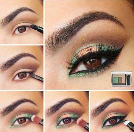 آرایش چشم,زیباترین مدل های آرایش چشم,آرایش چشم آبی و قهوه ای,آرایش چشم اسموکی,آرایش چشم بنفش,آرایش چشم زرد و نارنجی,آرایش چشم طوسی,آموزش گام به گام آرایش چشم
