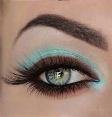 آموزش آرایش چشم,ارایش چشم,آموزش ارایشگری,ارایش چشم به زیباترین شکل,آموزش آرایش چشم آبی و قهوه ای,آرایش چشم به صورت آبی و قهوه ای