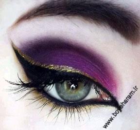 گریم چشم,آرایش چشم,مدل آرایش چشم,آرایش صورتی چشم