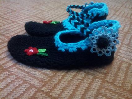 آموزش بافت پاپوش,بافت پاپوش زنانه,آموزش بافن کفش روفرشی,پاپوش,کفش روفرشی,بافت کفش,بافت روفرشی