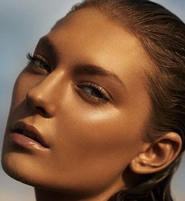 آموزش آرایش پوست برنزی,پوست برنزی,تصاویر صورت برنزی