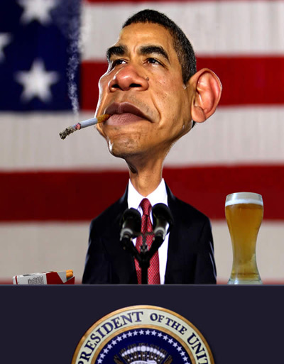 کاریکاتور خنده دار,کاریکاتور اوباما