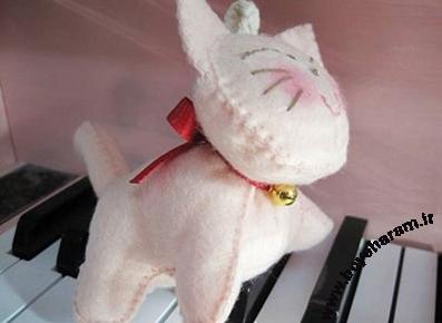 عروسک گربه,ساخت عروسک گربه با نمد