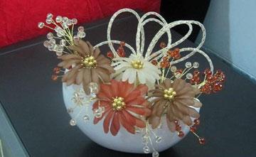 ساخت گل شیشه ای