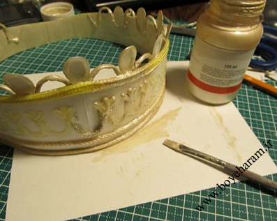 Creating crown bride
