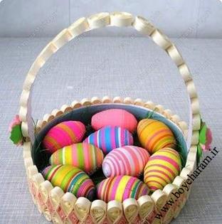 آموزش تزئین تخم مرغ عید