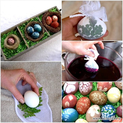 تزئین تخم مرغ با رنگ