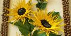 آموزش ساخت تابلو گل آفتابگردان