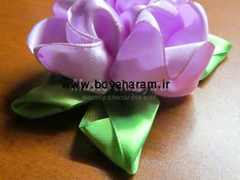 روبان دوزي,ساخت گل با روبان,گل هاي روباني,گل دوزي با روبان,آموزش روبان دوزي,ساخت گل با روبان,آموزش گل سازي,گل سازي با روبان,آموزش تصويري روبان دوزي,روبان دوزي روي لباس