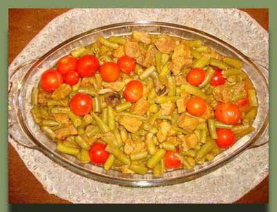 آموزش پخت خورش لوبیا سبز با گوشت