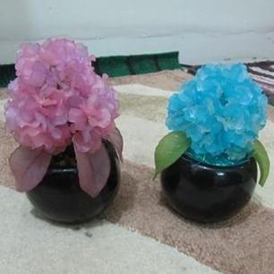 make kristal flowers