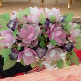 ساخت گل کریستال