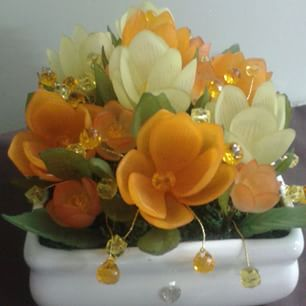 ساخت گل های کریستالی
