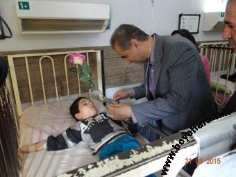 دیدار اسدی از معلولین مشمین شهر,دیدار اسدی با جانبازان مشکین شهر