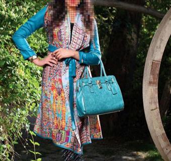 مدل جدید مانتو,مانتو آبی رنگ بهاری