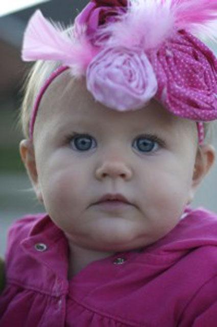 جدیدترین مدل های تل نوزاد,جدیدترین مدل های گل سر نوزاد,مدل های گل سر بچه گانه