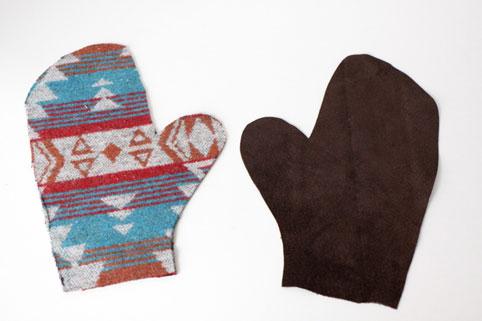 دوخت دستکش زمستانی,ساخت دستکش زمستانی,روش دوخت دستکش زمستانی