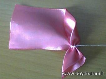 آموزش گل سازی,ساخت گل,ساخت گل با روبان,Making flowers with ribbon