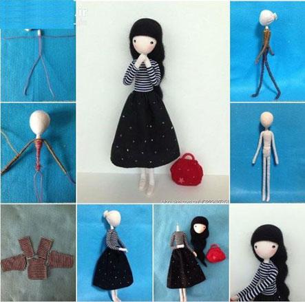 آموزش ساده برای ساخت عروسک,ساخت عروسک با سیم مسی
