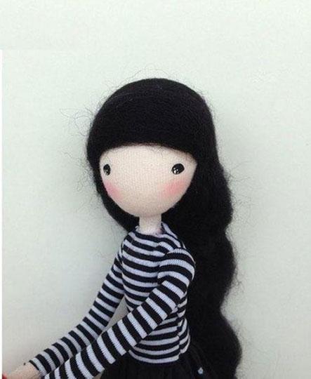 ساخت کاردستی با سیم مسی,آموزش عروسک دختر بچه