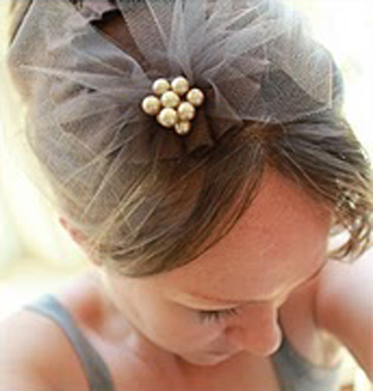 ساخت تل عروس,ساخت گل سر عروس