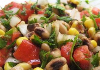 آموزش سالاد لاغری,سالاد رژیمی,سالاد با لوبیا و گوجه,Bean and tomato salad