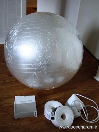 ساخت کاردستی,ساخت لامپ,آموزش تزئین لامپ