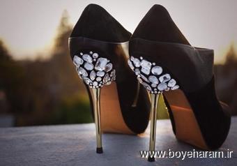 ساخت کفش تزئینی,ساخت کفش کریستالی,تزئین کفش