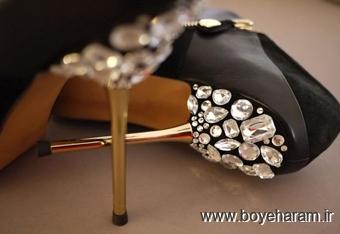 آموزش کفش تزئینی,تزئین کفش با مروارید,تزئین کفش با منجوق