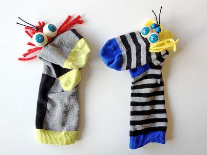 آموزش درست کردن عروسک های جورابی,ساخت عروسک پارچه ای