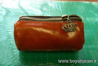 دوخت کیف زیبای چرمین