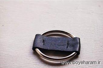 آموزش دستبند سازی با چرم,ساخت کاردستی چرمی