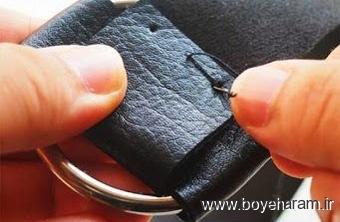 آموزش کاردستی چرمی,دوخت دستبند,ساخت دستبند