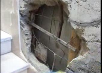 سوراخ کردن دیوار صرافی برای دزدی