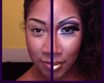 Highlights lips with makeup,آموزش آرایش لب و صورت