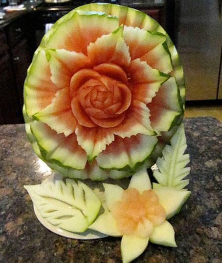 آموزش ساخت عروسک با هندوانه,آموزش گلسازی با هندوانه