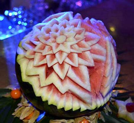 آرایش میوه,سفره آرایی,آموزش سفره آرایی,تزئین هندوانه