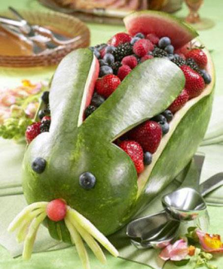 آموزش کنده کاری روی هندوانه,ساخت هندوانه تزئینی برای سفره