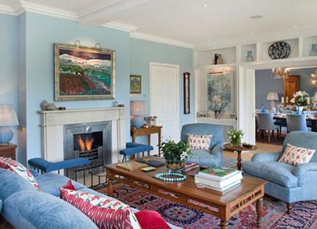 نحوه چیدمان خانه به رنگ آبی,دکوراسیون و چیدمان آبی خانه