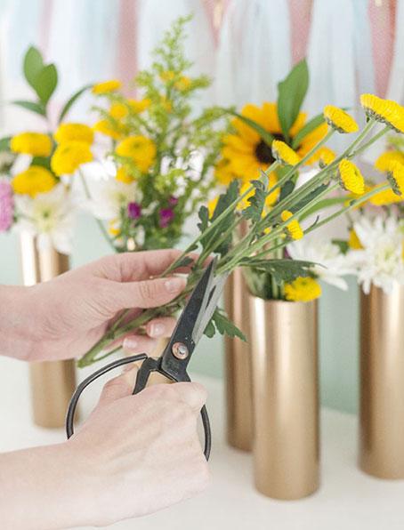 مراحل ساخت گلدان لوله ای,روش ساخت گلدان های باریک