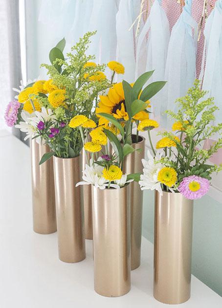 ساخت گلدان های تزیینی با لوله pvc, مراحل ساخت گلدان های لوله ای تزیینی