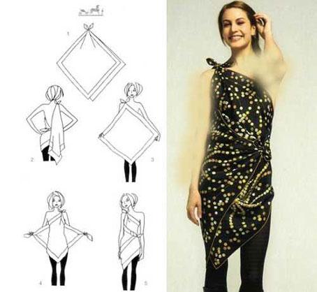 لباس همه کاره زنانه,ساخت سارافون پارچه ای,آموزش دوخت سارافون پارچه ای