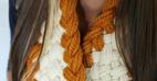 آموزش بافت شال گردن به روش گیس بافی