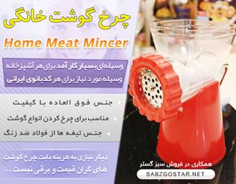 چرخ گوشت خانواده,خرید آنلاین چرخ گوشت,خرید اینترنتی چرخ گوشت