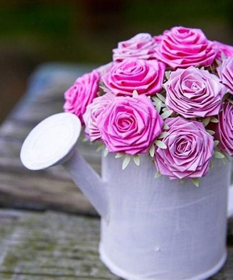 آموزش گلسازی با کاغذهای رنگی,مدل های گل دست ساز,مدل های گلسازی