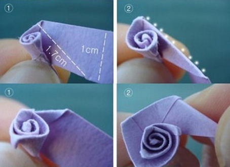روش ساخت گل کاغذی,آموزش تصویری ساخت انواع گل,آموزش ساخت انواع گل
