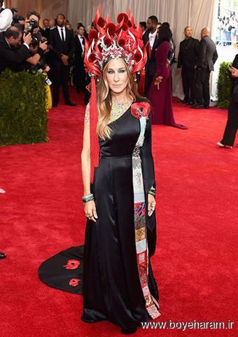 مدل لباس بازیگران هالیوودی,مدل لباس, Sarah Jessica Parker در مراسم مت گالا Met Gala 2015